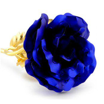 Annaversary Gifts for Her Wife Girlfriend Personalized Unique Gifts Artificial Forever Love Rose with Bracket - BLUE