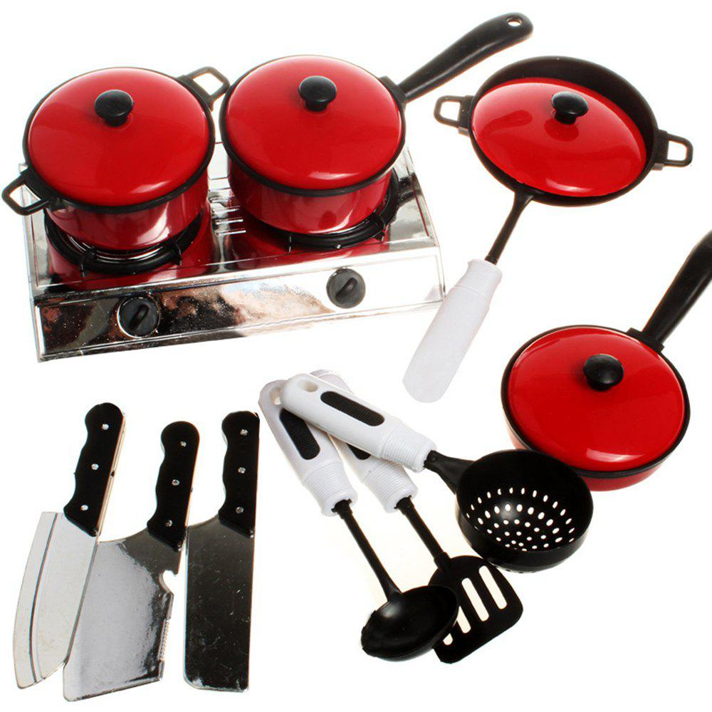 13PCS Children House Kitchen Toys Utensils Cooking Pots Pans Food Dishes Cookware Baby Kids Kitchen Toy Set children girl toys play house kitchen cooking simulation kitchen cooking playsets baby nursery baby playing housecozinha