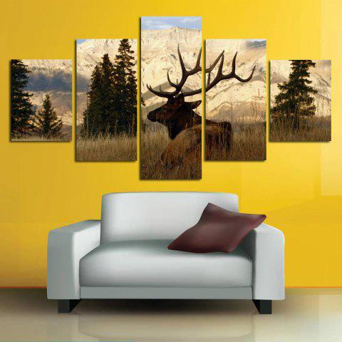 Modern Canvas Prints Frameless Home Wallart Decoration 5PCS - COLORFUL