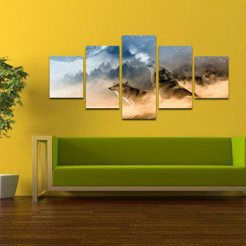 Modern Canvas Prints Unframed Room Wall Decoration 5pcs - COLORFUL