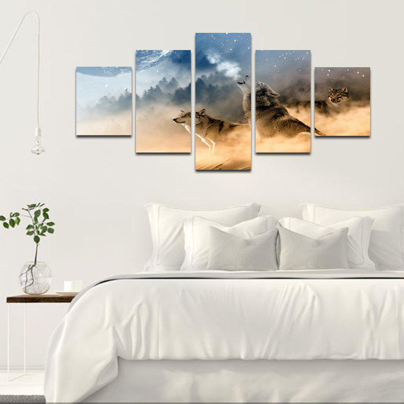 Modern Canvas Prints Unframed Room Wall Decoration 5pcs - COLORMIX