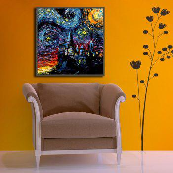 Unframed Abstract Canvas Art Print for Home Wall Decoration - COLORFUL 19 X 19 INCH (50CM X 50CM)