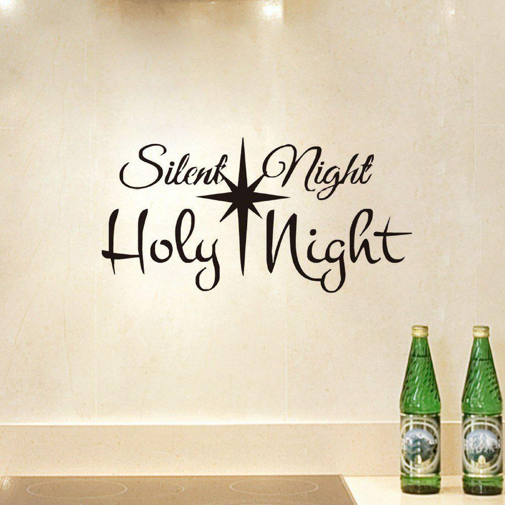 DSU Slient Night Holy Night Wall Sticker for Shop Window Glass Door Decoration chic colorful fireworks pattern wall sticker for glass show window decoration