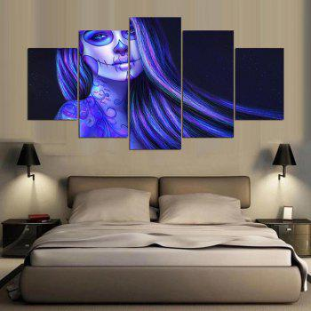 YSDAFEN Piano Brunette Tattoos Makeup Posters And Prints Wall Art Picture Home Decor - COLORMIX 30X40CMX2+30X60CMX2+30X80CMX1(12X16INCHX2+12X24INC