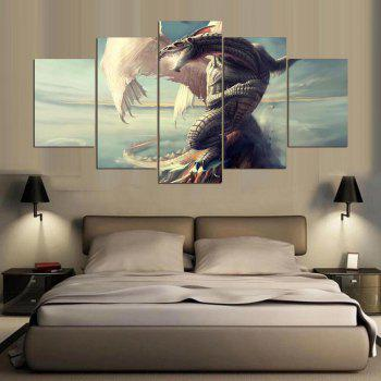 YSDAFEN Canvas Painting   Home Decor Wall Pictures For Living Room 5 Pcs - COLORMIX 30X40CMX2+30X60CMX2+30X80CMX1(12X16INCHX2+12X24INC