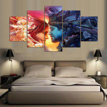 YSDAFEN Print Canvas Wall Beautiful Roses Cuadros Decoration Oil Painting Pictures - COLORMIX 30X40CMX2+30X60CMX2+30X80CMX1(12X16INCHX2+12X24INC