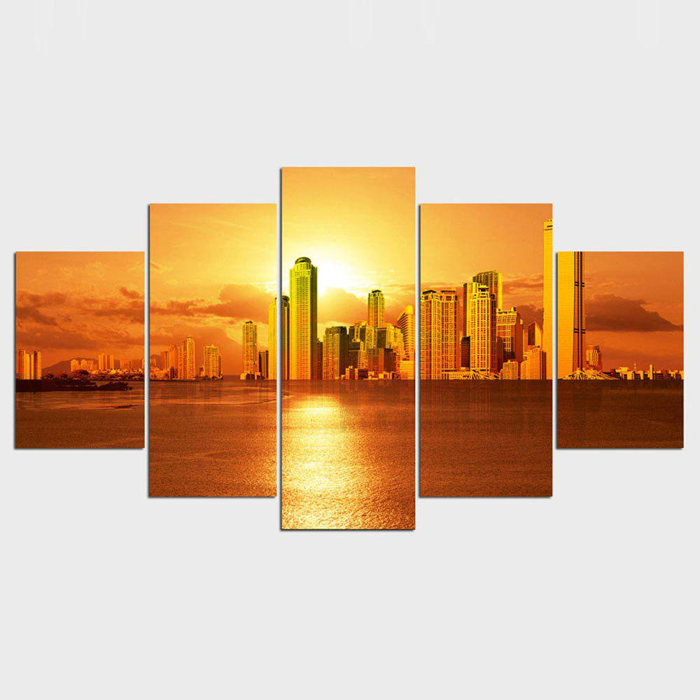 2018 YSDAFEN Beautiful City With Sunset Modern Painting Home Wall ...