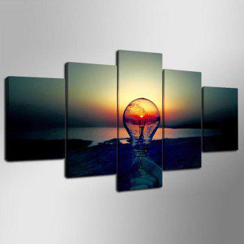 YSDAFEN  HD Canvas Art Shipping Lighting Print Art Wall Decoration for Home - COLORMIX 30X40CMX2+30X60CMX2+30X80CMX1(12X16INCHX2+12X24INC
