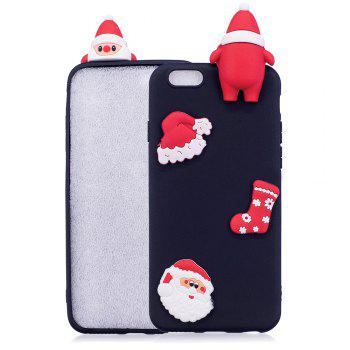 3D Cute Santa Claus Design Soft TPU Rubber Back Cover for iPhone 6 / 6S - HEISE HEISE