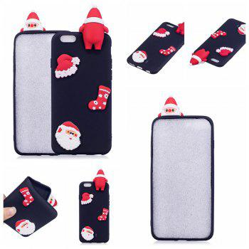 3D Cute Santa Claus Design Soft TPU Rubber Back Cover for iPhone 6 / 6S -  HEISE