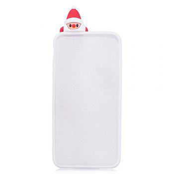 3D Cute Santa Claus Design Soft TPU Rubber Back Cover for iPhone 6 / 6S -  WHITE