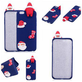 3D Cute Santa Claus Design Soft TPU Rubber Back Cover for iPhone 6 / 6S -  BLUE