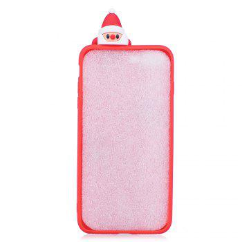 3D Cute Santa Claus Design Soft TPU Rubber Back Cover for iPhone 6 / 6S Plus -  RED