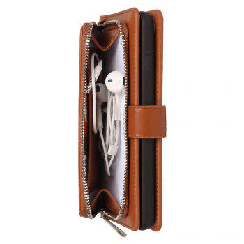 Leather Wallet with Card Holder Case Cover for iPhone 6 / 6S Plus -  BROWN