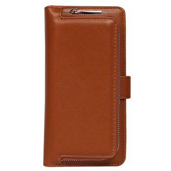 Leather Wallet with Card Holder Case Cover for iPhone 6 / 6S Plus - BROWN BROWN