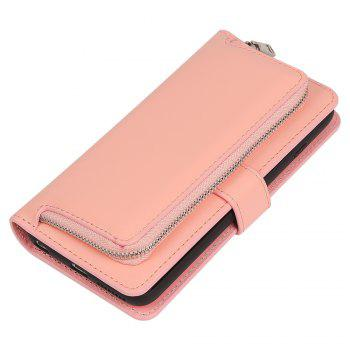 Leather Wallet with Card Holder Case Cover for iPhone 6 / 6S Plus - PINK PINK