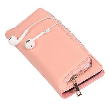 Leather Wallet with Card Holder Case Cover for iPhone 6 / 6S Plus -  PINK