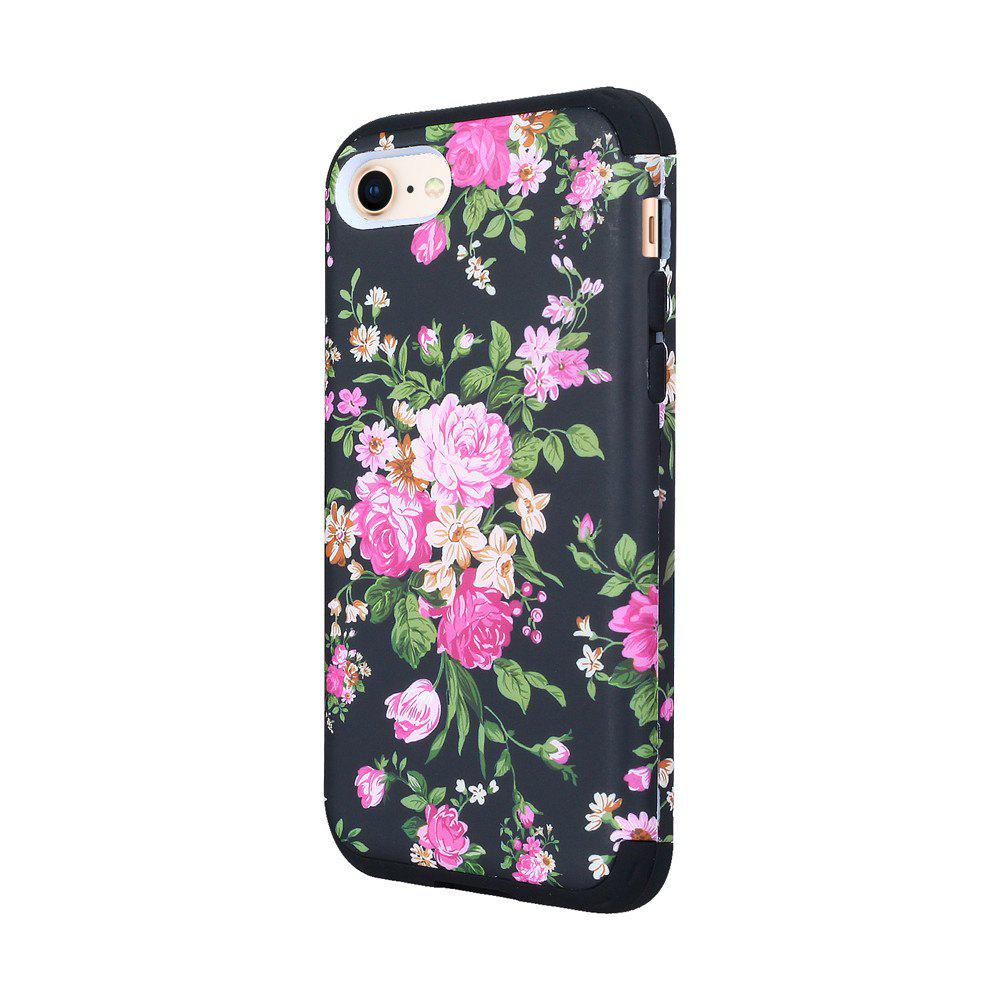 3 in 1 Hard PC with Soft Silicone Full Body Phone Case for iPhone 7 / 8 - BLACK