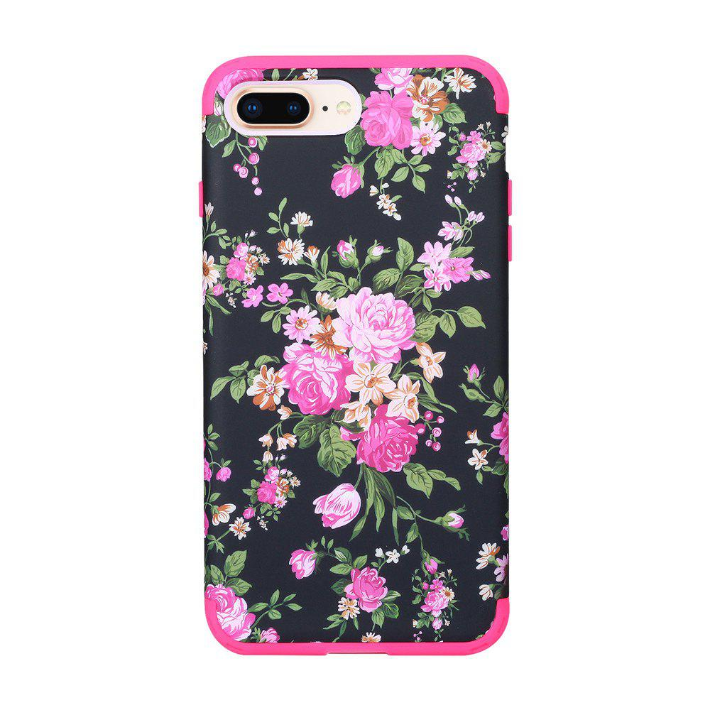 3 in 1 Hard PC with Soft Silicone Full Body Phone Case for iPhone 7 / 8 Plus - ROSE RED