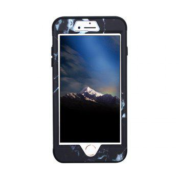 3 in 1 Hard PC Marble Pattern with Silicone Phone Case for iPhone 7 Plus / 8 Plus -  BLACK