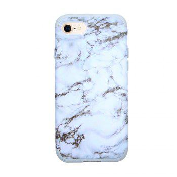 3 in 1 PC with Silicone Marble Design Phone Cover Case for iPhone 7 / 8 - WHITE WHITE