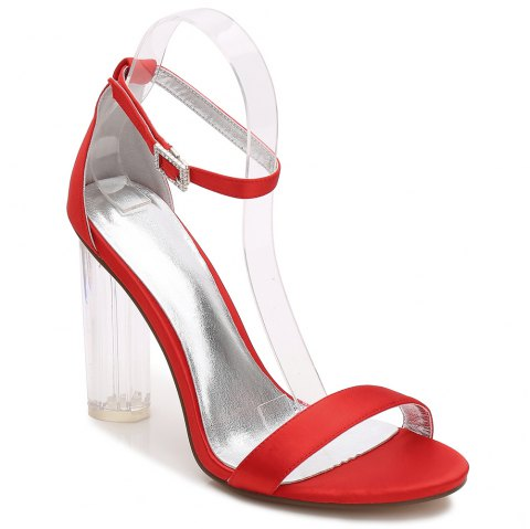2615-9Women's Shoes Wedding Shoes - RED 37