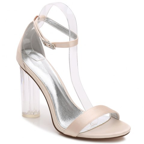 2615-9Women's Shoes Wedding Shoes - CHAMPAGNE 38