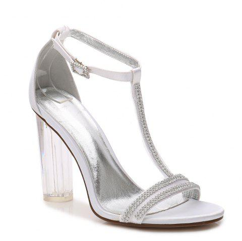 2615-11 Women's Shoes Wedding Shoes - WHITE 36