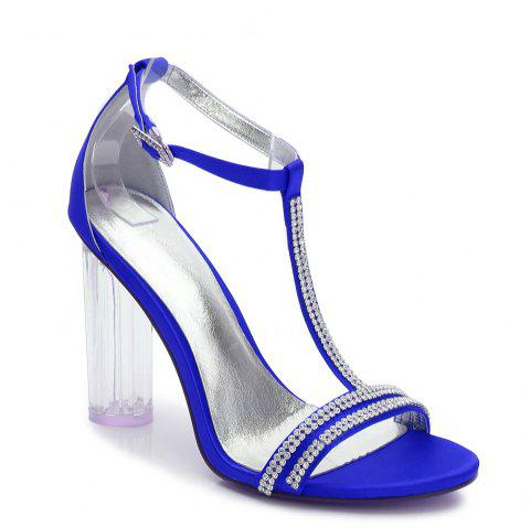 2615-11 Women's Shoes Wedding Shoes - BLUE 36