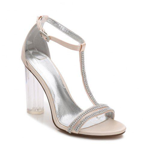 2615-11 Women's Shoes Wedding Shoes - CHAMPAGNE 37