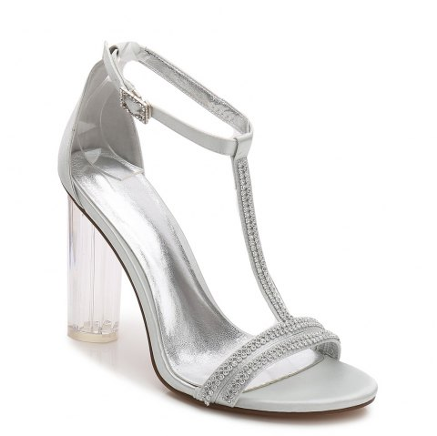 2615-11 Women's Shoes Wedding Shoes - SILVER 40