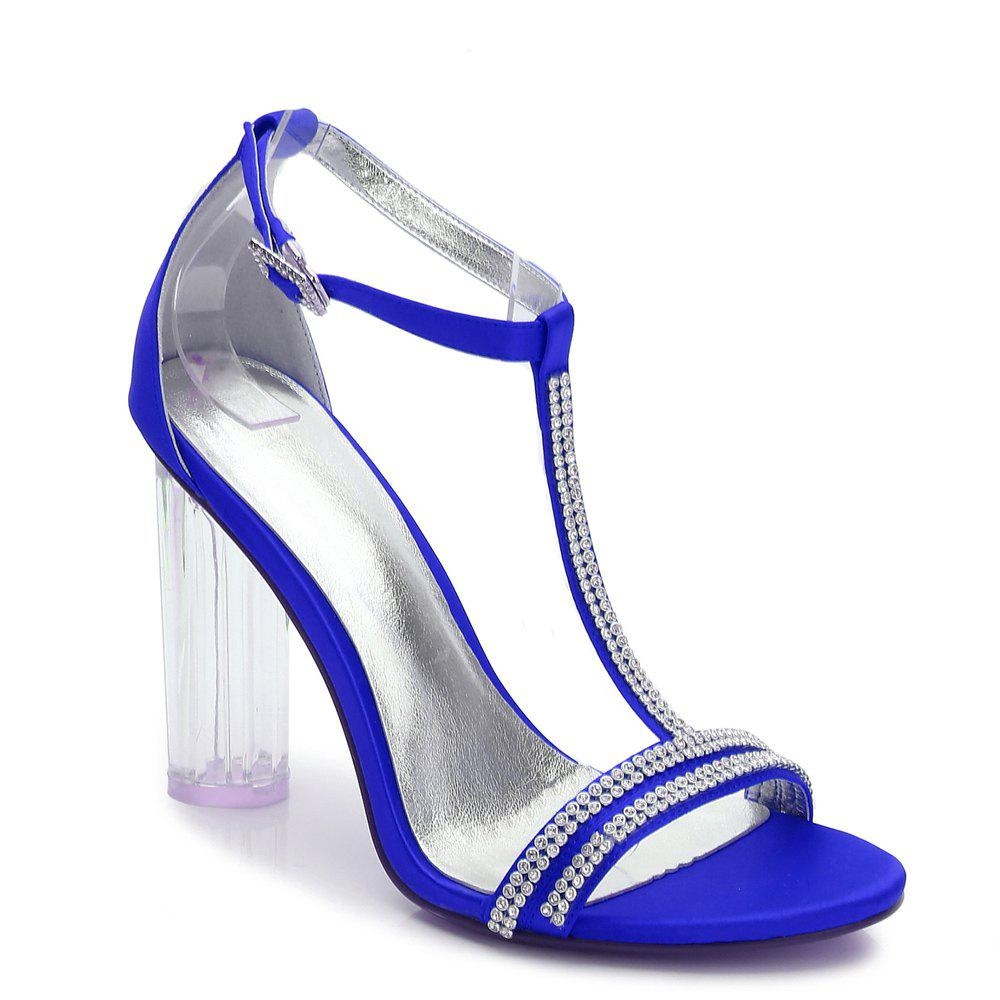 2615-11 Women's Shoes Wedding Shoes - BLUE 38