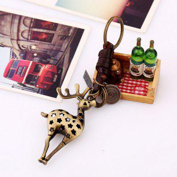 Men's Vintage Animal Pattern Tous les accessoires King Ring Accessory - Bronze