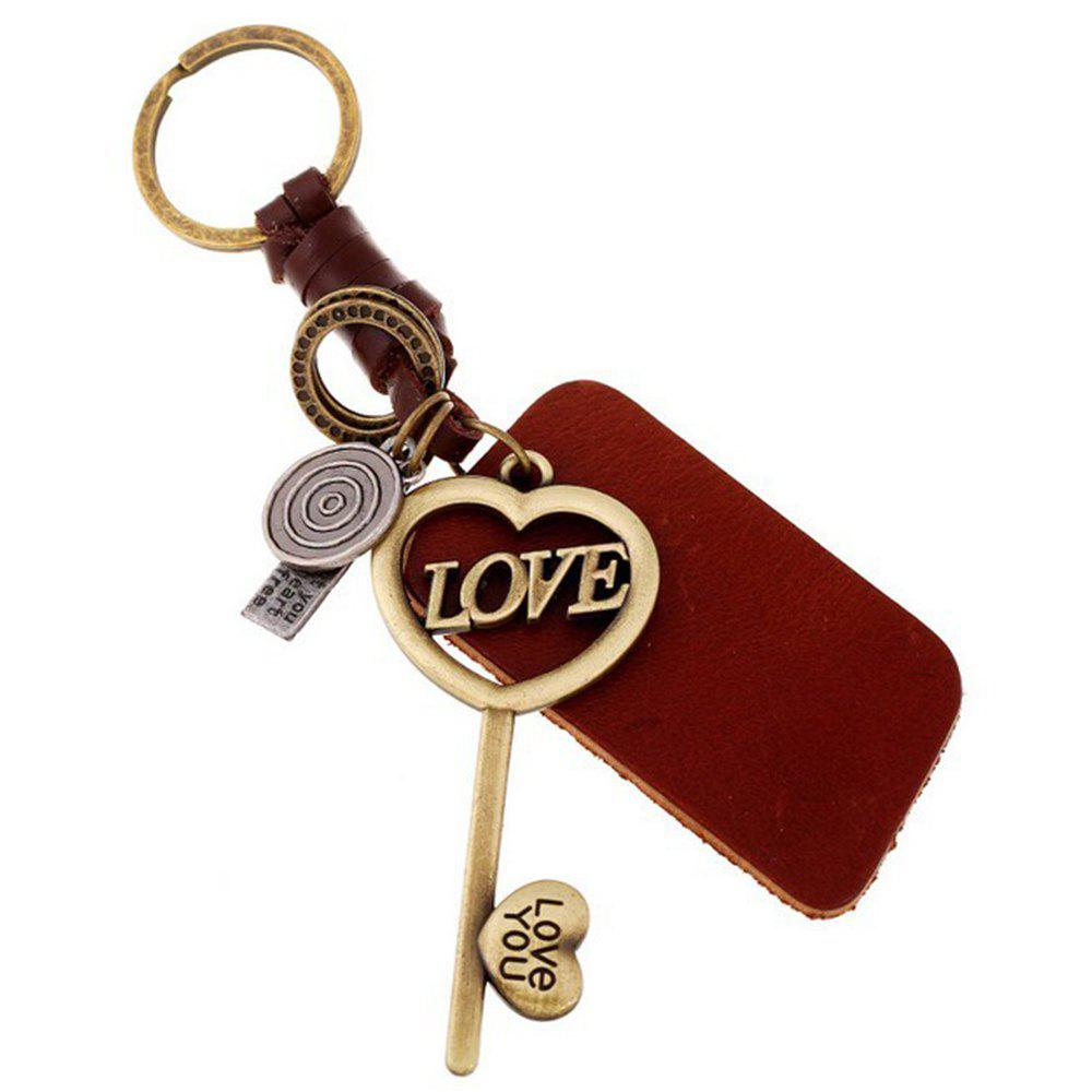 Men's Key RingHand-Woven Love Key Modeling Key Chain - BRONZE