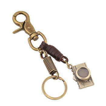 Men's Alloy Camera Upholstery Pendant Key Chain - BRONZE BRONZE