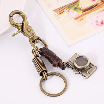 Men's Alloy Camera Upholstery Pendant Key Chain -  BRONZE