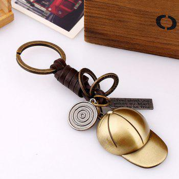 Men's Alloy Baseball Cap Shaped Key Chain - BRONZE