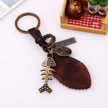Men's Key Ring PU Alloy Vintage Chic King Ring Accessory - BRONZE