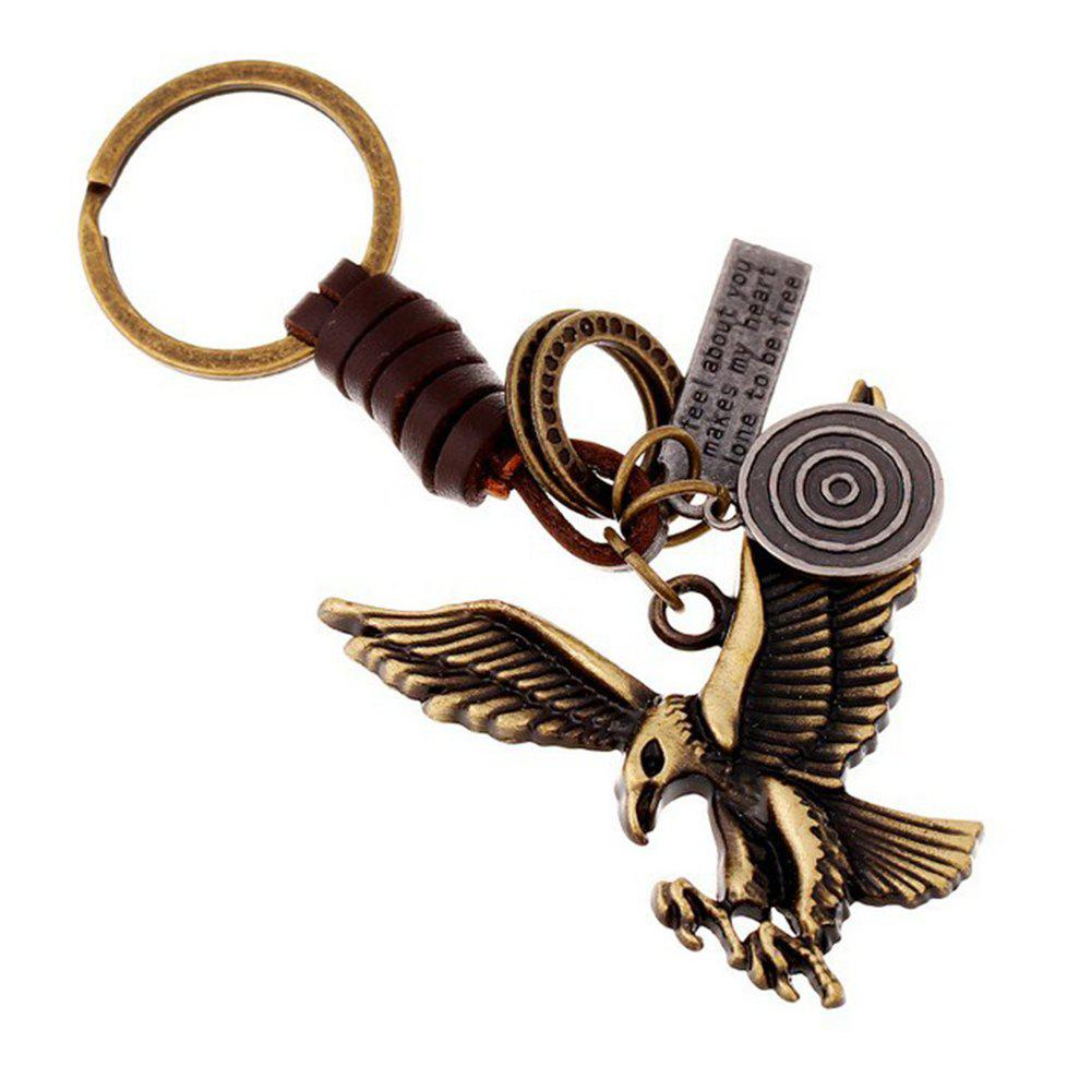 Men's Key Ring Vintage Animal Pattern Durable King Ring Accessory - BRONZE