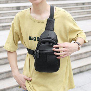 Chest Bag Shoulder Pocket Waterproof Outdoor Sports Riding Mountain Climbing Bag -  BLACK