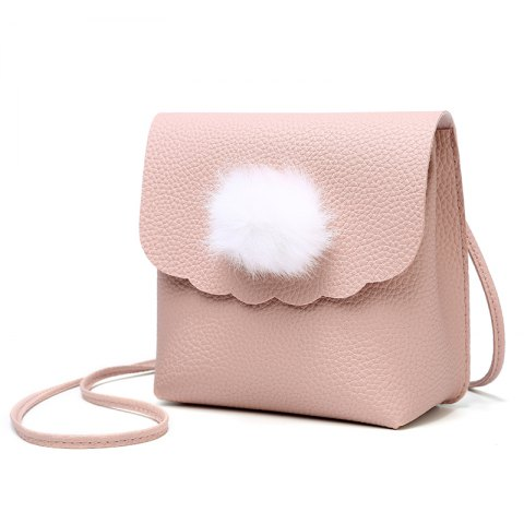 Sac de messager de mode simple mini - Rose