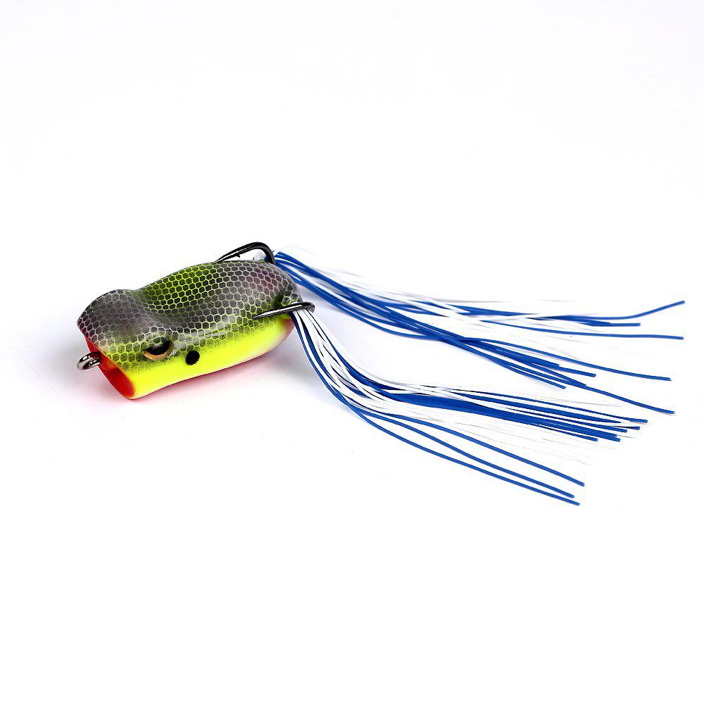 Topwater PVC Material Soft Frog Popping Fishing Lure for Bass Pike Snakehead Dogfish Musky Freshwater Saltwater - multicolor