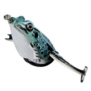 Floating Imitation Legs PVC Material Frog Popping Fishing Lure Soft Swimbait with Tackle Box for Bass Soft Bait Sets -  multicolor