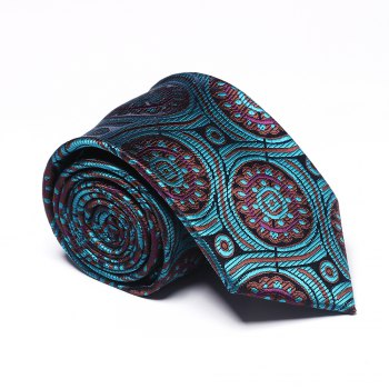 Fashion Accessory Men's Business Necktie Circle Pattern All Match Stylish Brief Chic Design Comfy Tie - GREEN GREEN
