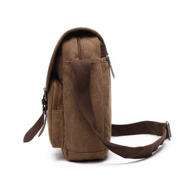 Young Fashion Canvas Single Shoulder Bag - KHAKI KHAKI