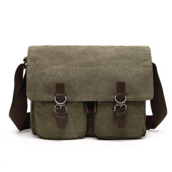 Young Fashion Slanted Canvas Shoulder Rucksack - ARMYGREEN ARMYGREEN