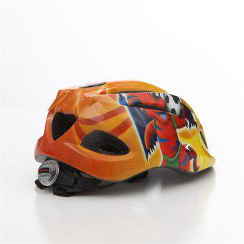 LED Child Bicycle Helmet Bike Cycling Adjustable Kid Unisex Safety Equipment Cartoon - YELLOW/RED