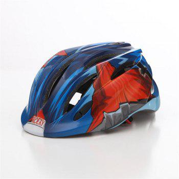 LED Child Bicycle Helmet Bike Cycling Adjustable Kid Unisex Safety Equipment Cartoon - BLUE AND RED BLUE/RED