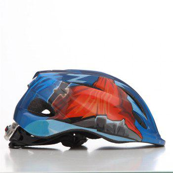 LED Child Bicycle Helmet Bike Cycling Adjustable Kid Unisex Safety Equipment Cartoon -  BLUE/RED
