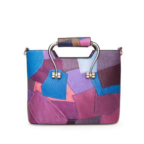 Color Mosaic Iron Hand Small Package Bags - PURPLE VERTICAL
